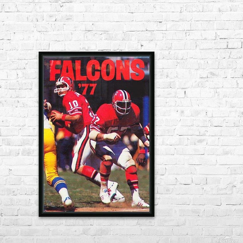 1977 Atlanta Falcons Retro Football Poster HD Sublimation Metal print with Decorating Float Frame (BOX)