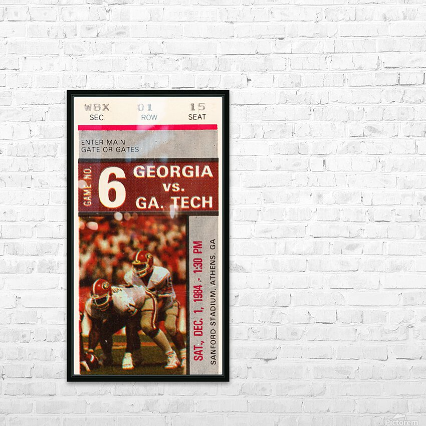1984 Georgia Tech vs. Georgia HD Sublimation Metal print with Decorating Float Frame (BOX)