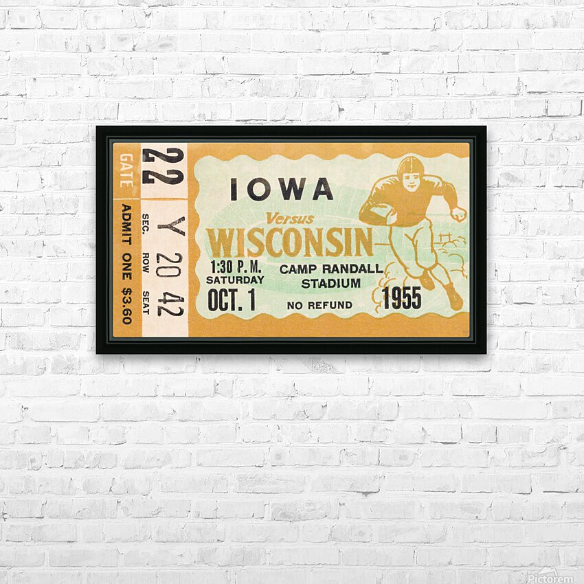 1955 Iowa Hawkeyes vs. Wisconsin Badgers HD Sublimation Metal print with Decorating Float Frame (BOX)