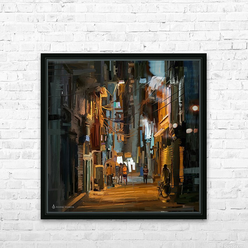 LateNightStreet HD Sublimation Metal print with Decorating Float Frame (BOX)