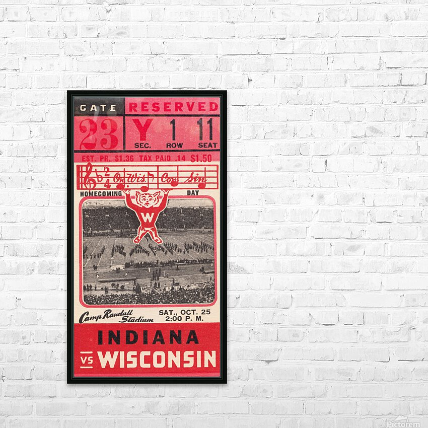 1941 Wisconsin vs. Indiana HD Sublimation Metal print with Decorating Float Frame (BOX)