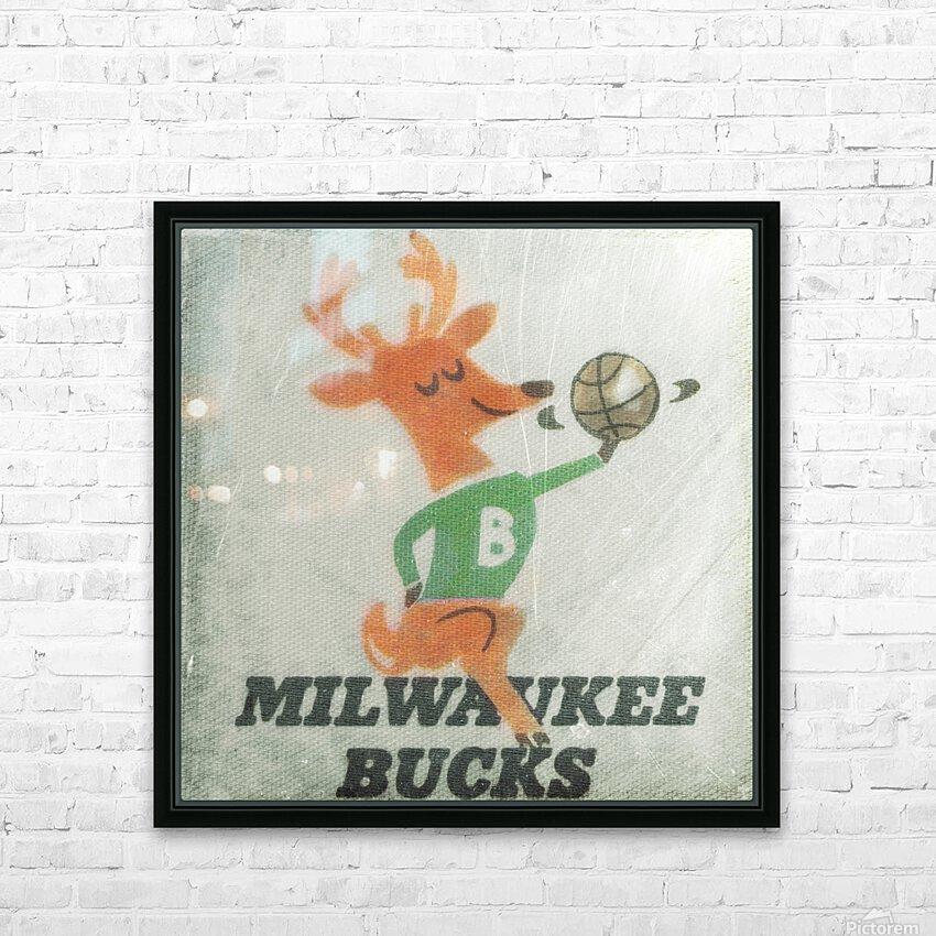 1974 Milwaukee Bucks Fleer Decal Art HD Sublimation Metal print with Decorating Float Frame (BOX)