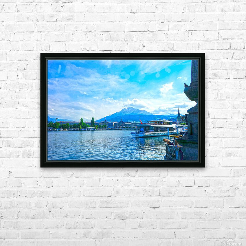 Mount Pilatus on the Shores of Lake Lucerne   Central Swiss Alps HD Sublimation Metal print with Decorating Float Frame (BOX)