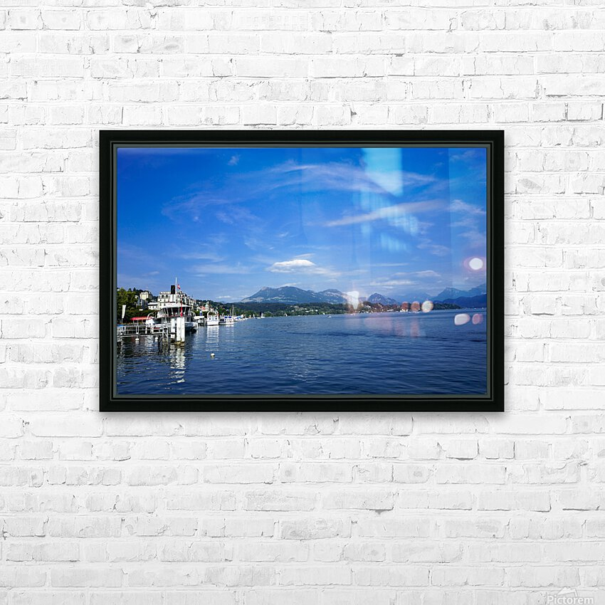 On the Shores of Lake Lucerne HD Sublimation Metal print with Decorating Float Frame (BOX)