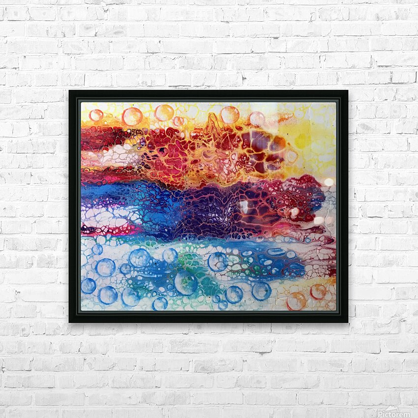 Rainbow Lizard Abstract HD Sublimation Metal print with Decorating Float Frame (BOX)