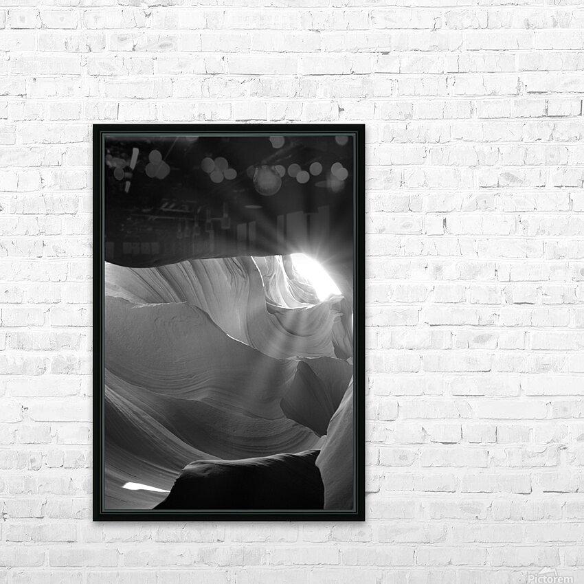 Light Cavern HD sublimation métal imprimé avec décoration flotteur cadre (boîte)