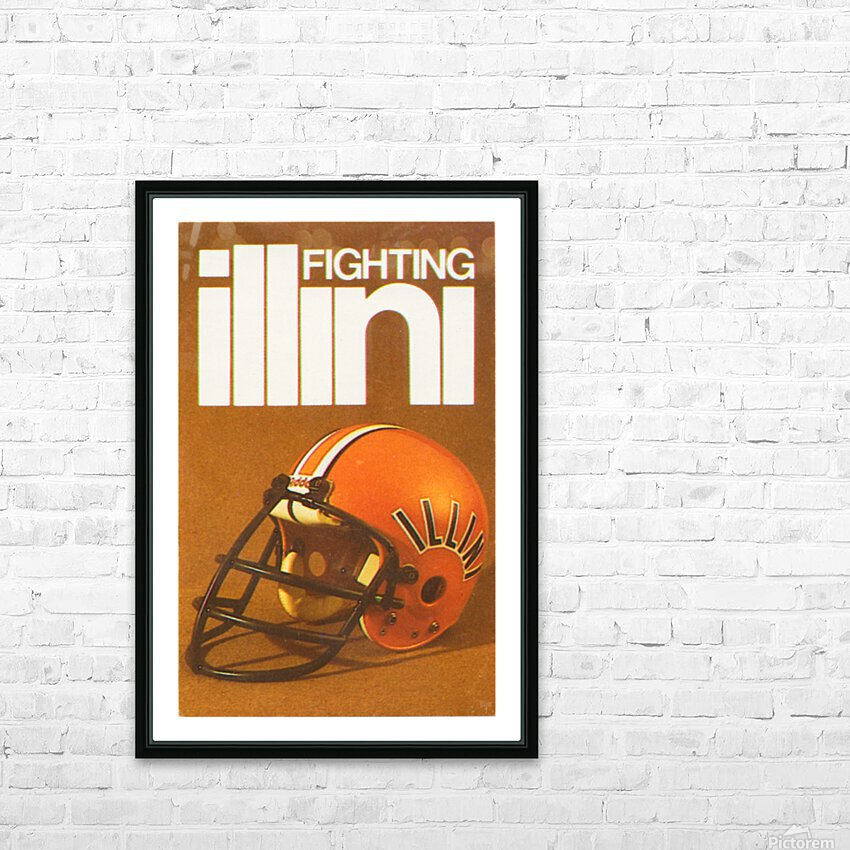 1980 Illinois Illini Football Poster HD Sublimation Metal print with Decorating Float Frame (BOX)
