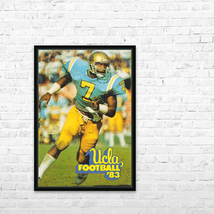 1983 UCLA Bruins Football Poster HD Sublimation Metal print with Decorating Float Frame (BOX)