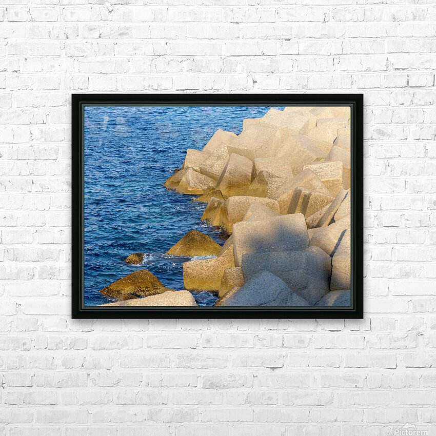 Cubes on the sea HD Sublimation Metal print with Decorating Float Frame (BOX)
