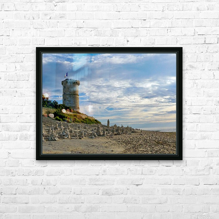 Isle of Re HD Sublimation Metal print with Decorating Float Frame (BOX)