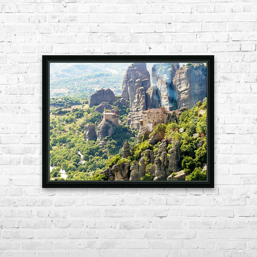 Monastery in Grece HD Sublimation Metal print with Decorating Float Frame (BOX)