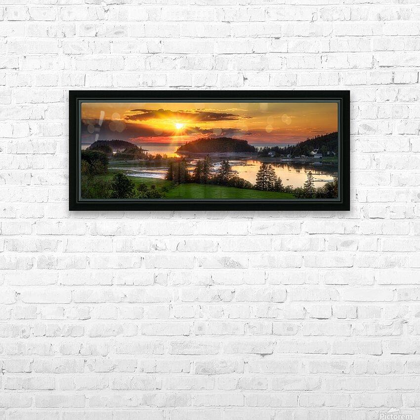 Coucher de soleil au Bic HD Sublimation Metal print with Decorating Float Frame (BOX)