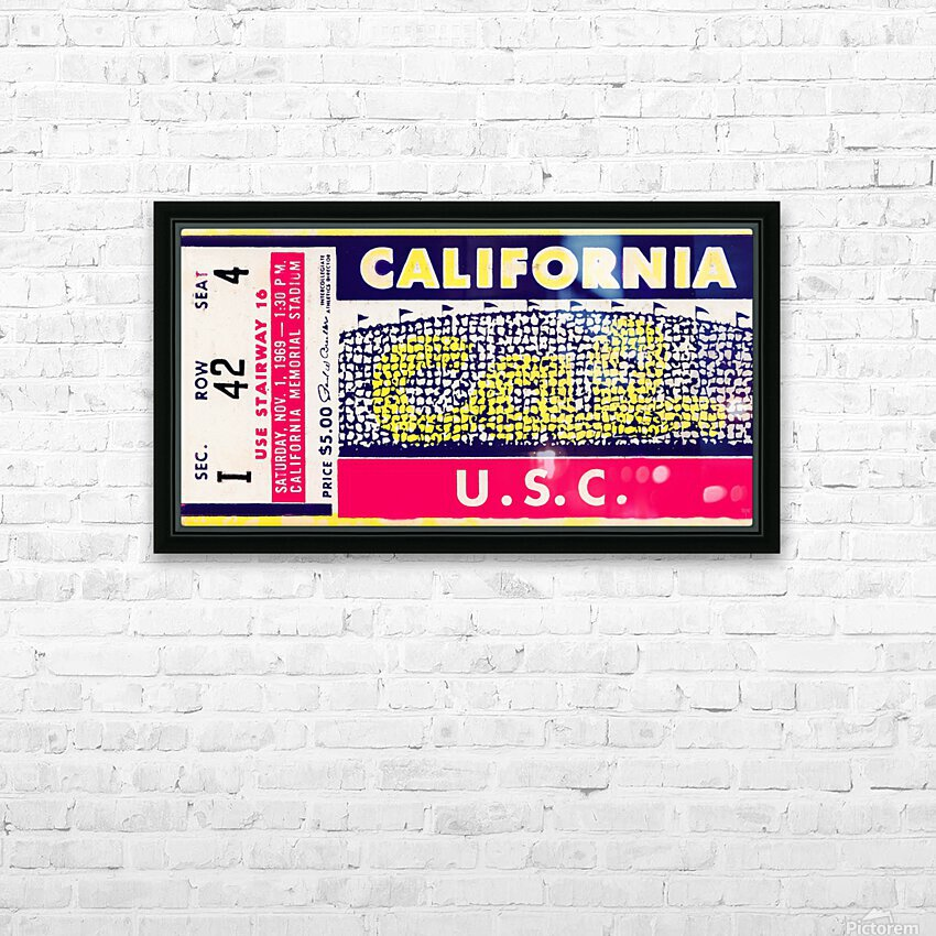 1969 Cal Bears vs. USC Trojans HD Sublimation Metal print with Decorating Float Frame (BOX)