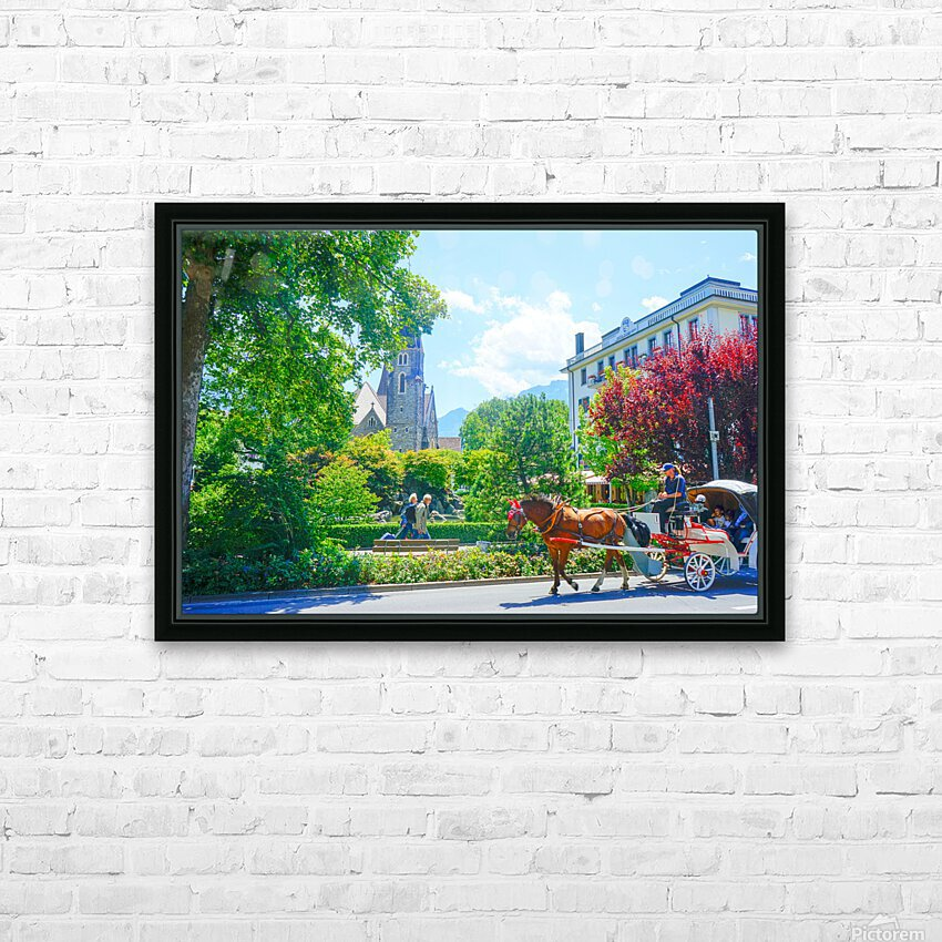 One Day in Interlaken Switzerland 1 of 3 HD Sublimation Metal print with Decorating Float Frame (BOX)