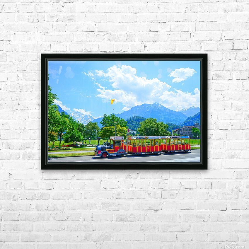 One Day in Interlaken Switzerland 2 of 3 HD Sublimation Metal print with Decorating Float Frame (BOX)