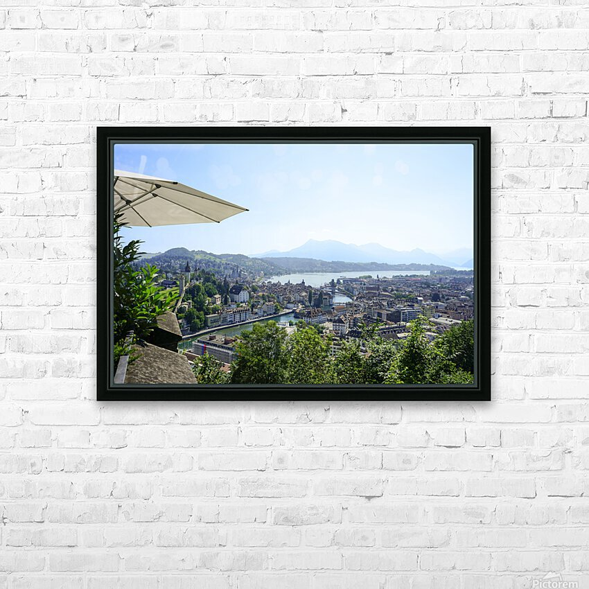 Stunning View to Lake Lucerne in the Central Swiss Alps HD Sublimation Metal print with Decorating Float Frame (BOX)