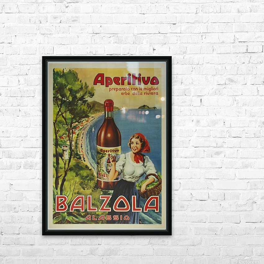 Aperitivo Balzola Original Poster HD Sublimation Metal print with Decorating Float Frame (BOX)