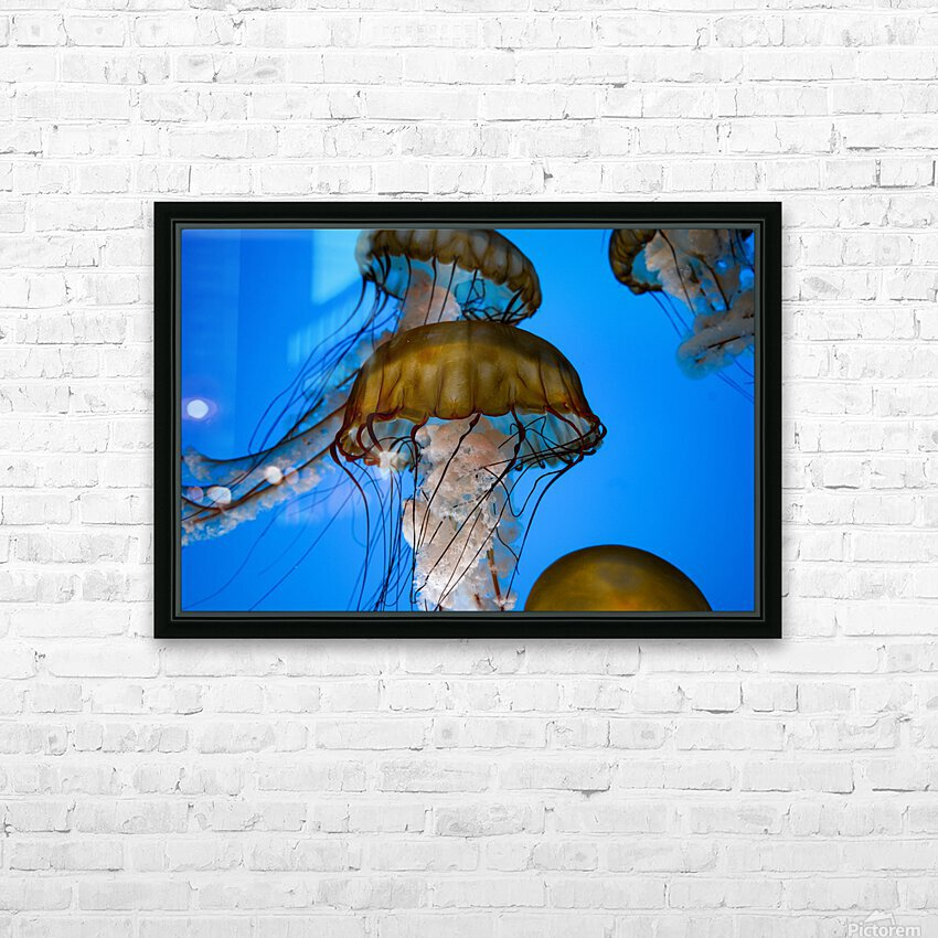 Orange Glow HD Sublimation Metal print with Decorating Float Frame (BOX)