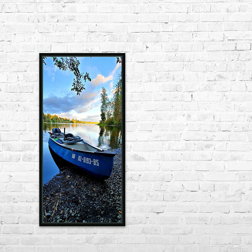 On the water HD Sublimation Metal print with Decorating Float Frame (BOX)