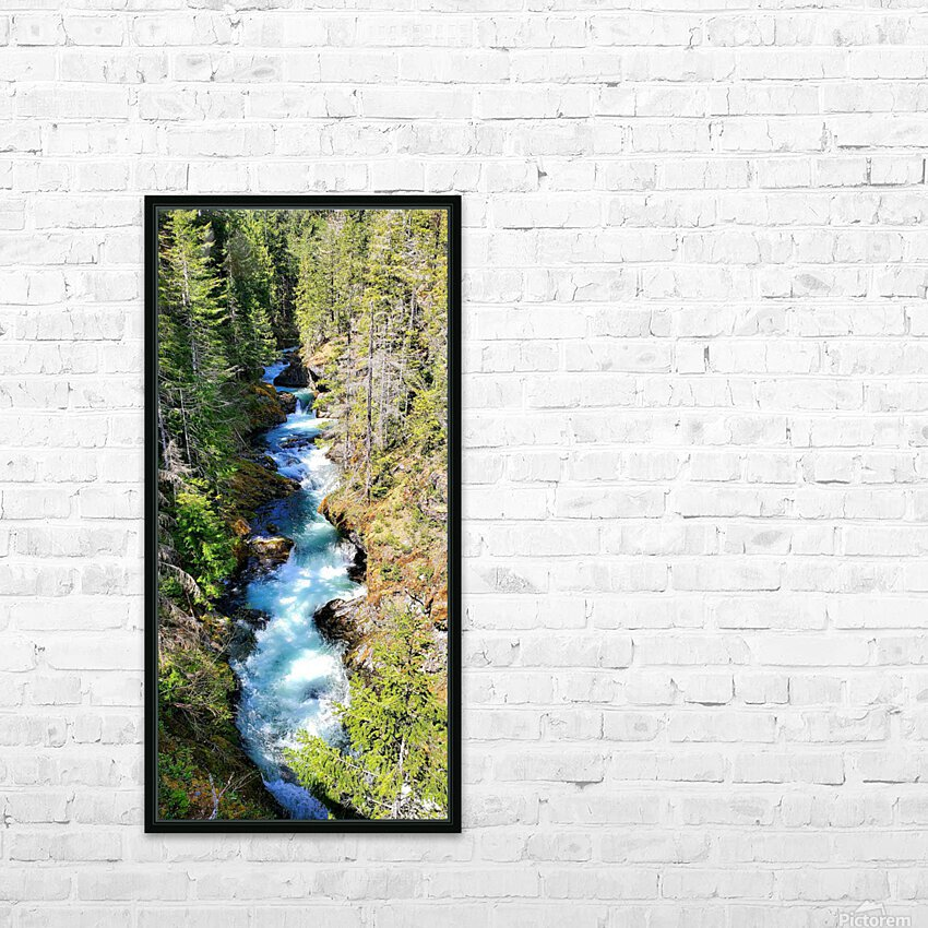 Falls HD Sublimation Metal print with Decorating Float Frame (BOX)