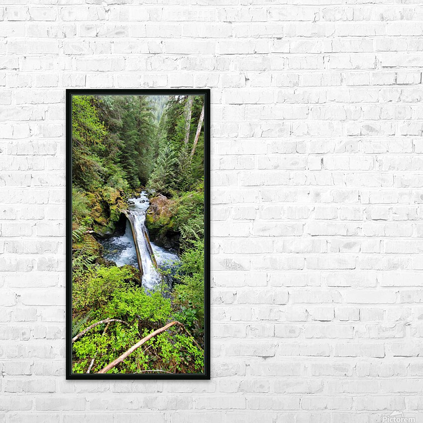 Natures Waterslide HD Sublimation Metal print with Decorating Float Frame (BOX)