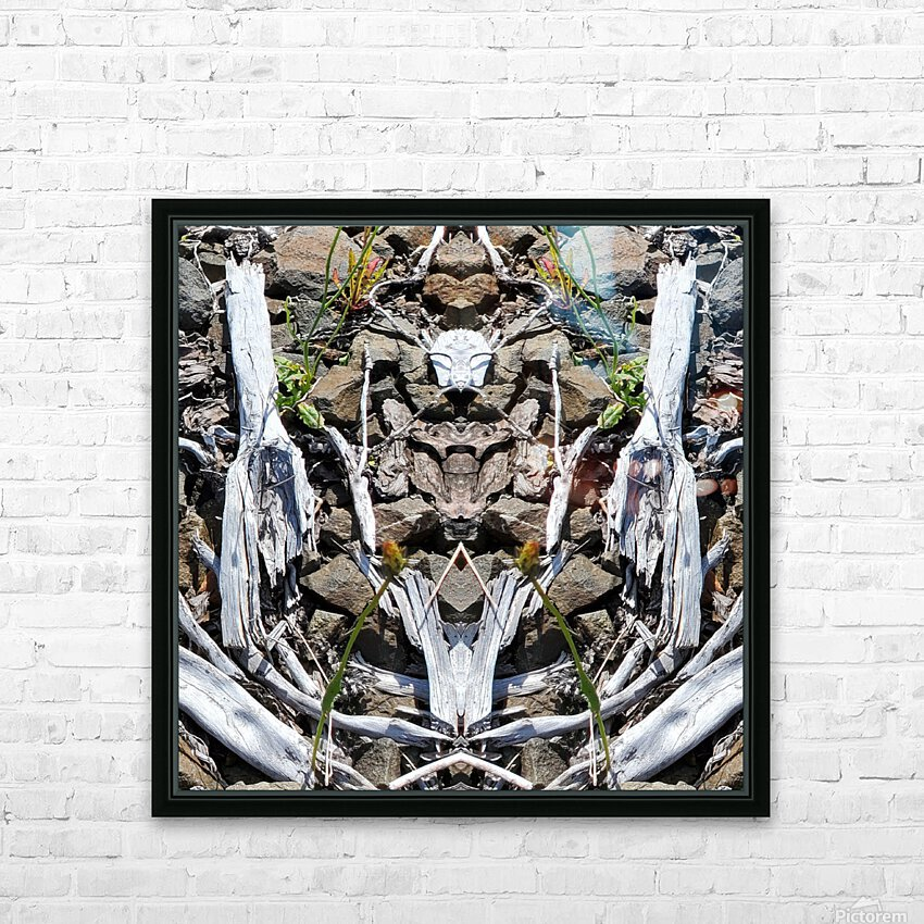 Sticks and Stones HD Sublimation Metal print with Decorating Float Frame (BOX)