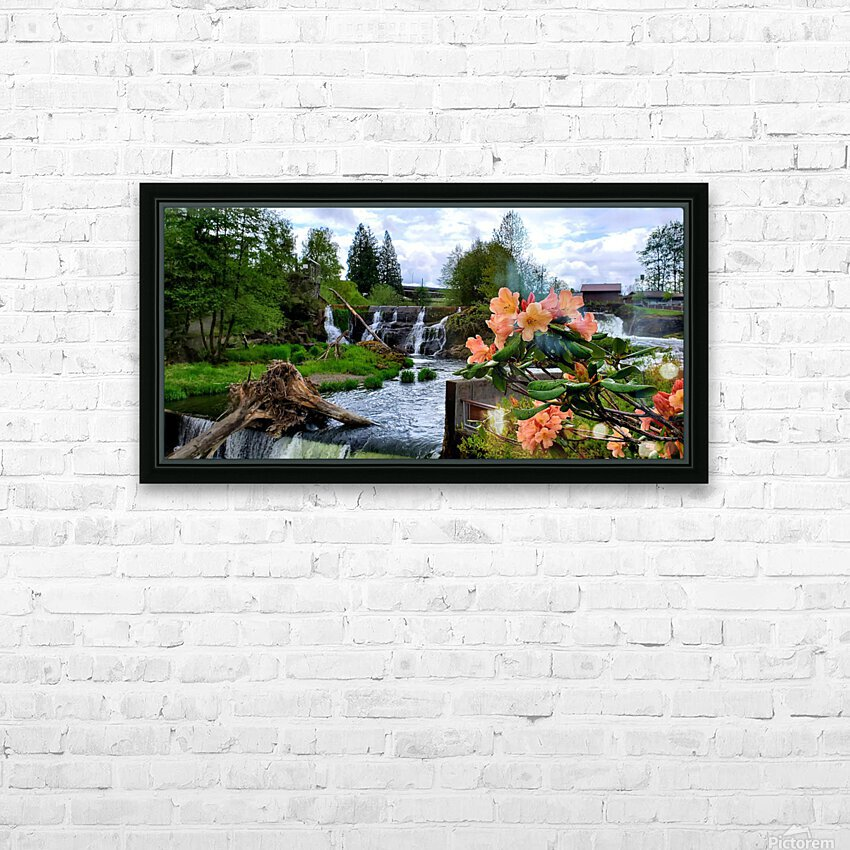 Tumwater Falls HD Sublimation Metal print with Decorating Float Frame (BOX)