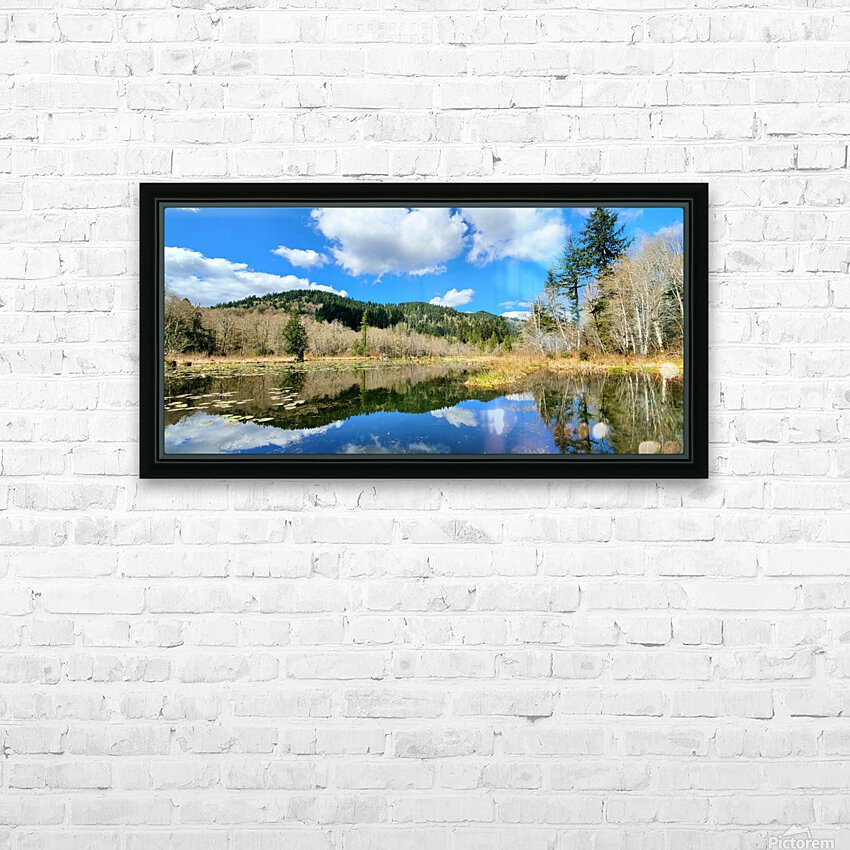 Lay of the land HD Sublimation Metal print with Decorating Float Frame (BOX)