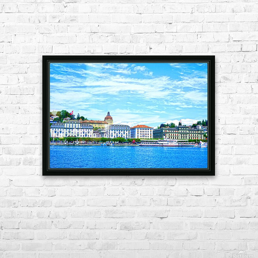 Waterfront   Lucerne Switzerland 2 of 3 HD Sublimation Metal print with Decorating Float Frame (BOX)