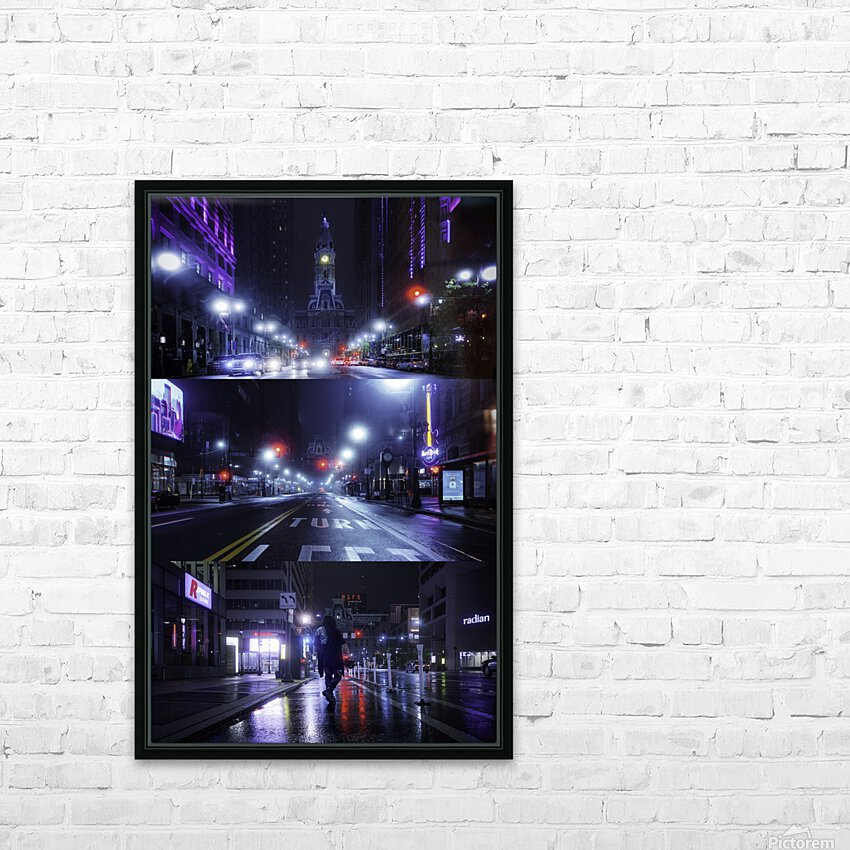 Electric City HD Sublimation Metal print with Decorating Float Frame (BOX)