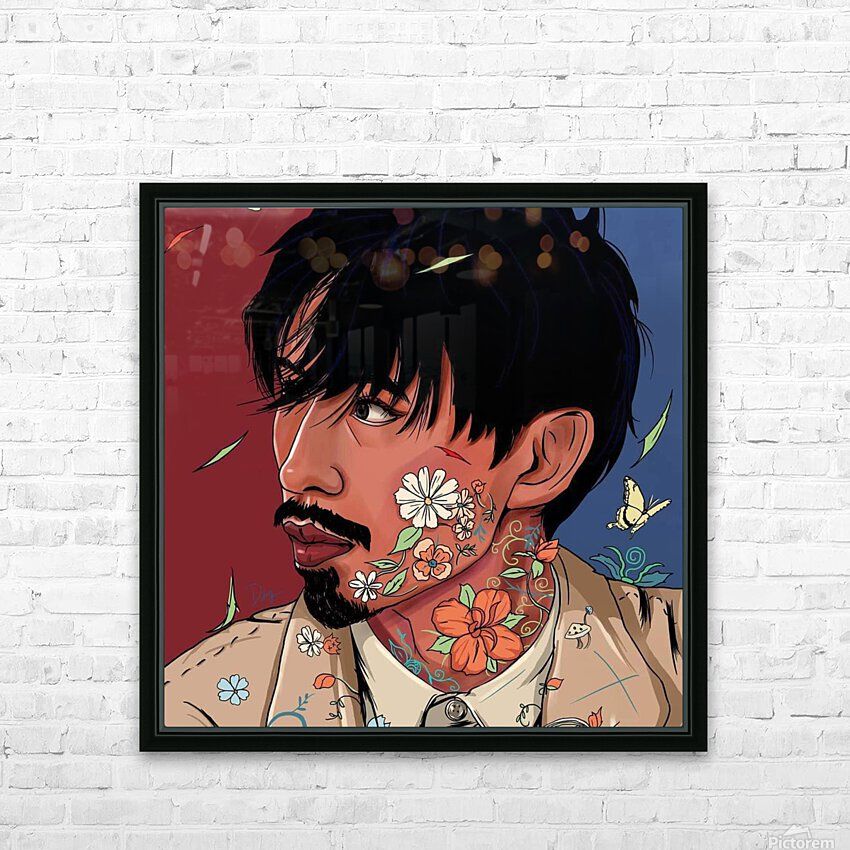 Portrait Painting In The MV Hide and Seek HD Sublimation Metal print with Decorating Float Frame (BOX)