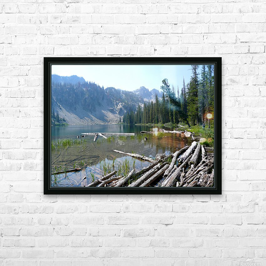 Sawtooth Lake HD Sublimation Metal print with Decorating Float Frame (BOX)