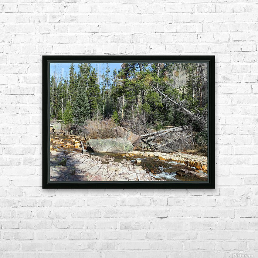 Upper Provo River HD Sublimation Metal print with Decorating Float Frame (BOX)