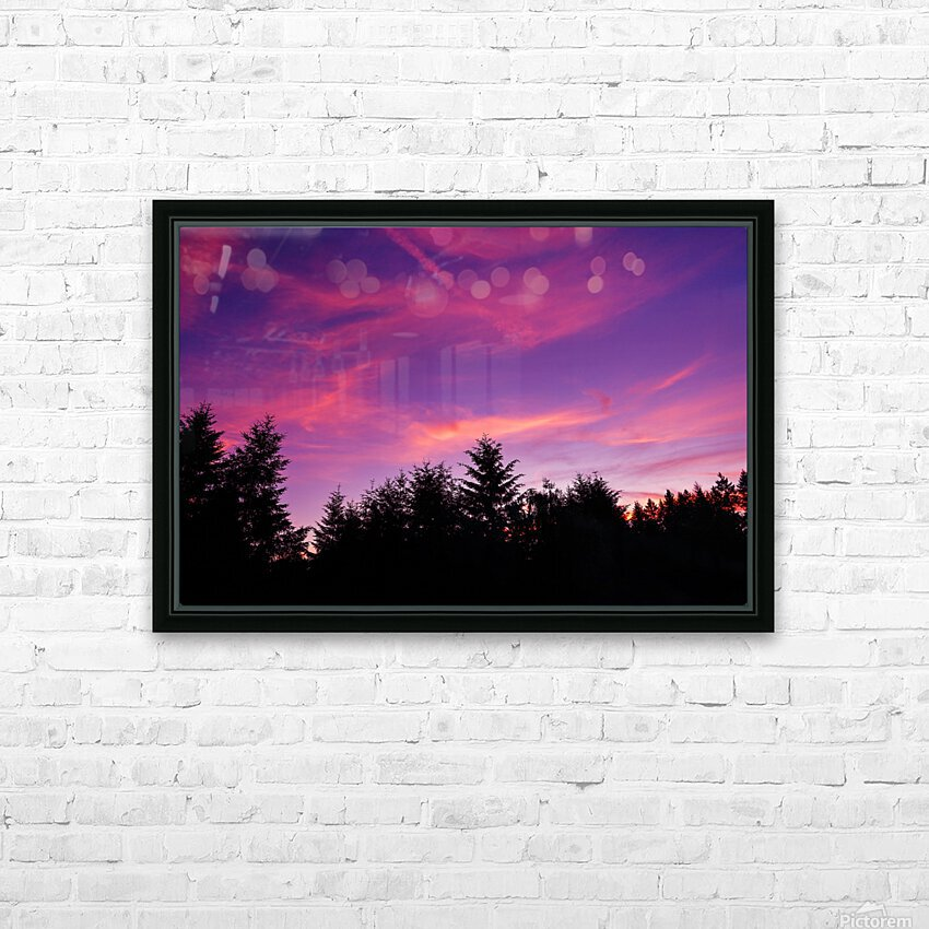 Summer Sunset Pacific Northwest United States HD Sublimation Metal print with Decorating Float Frame (BOX)