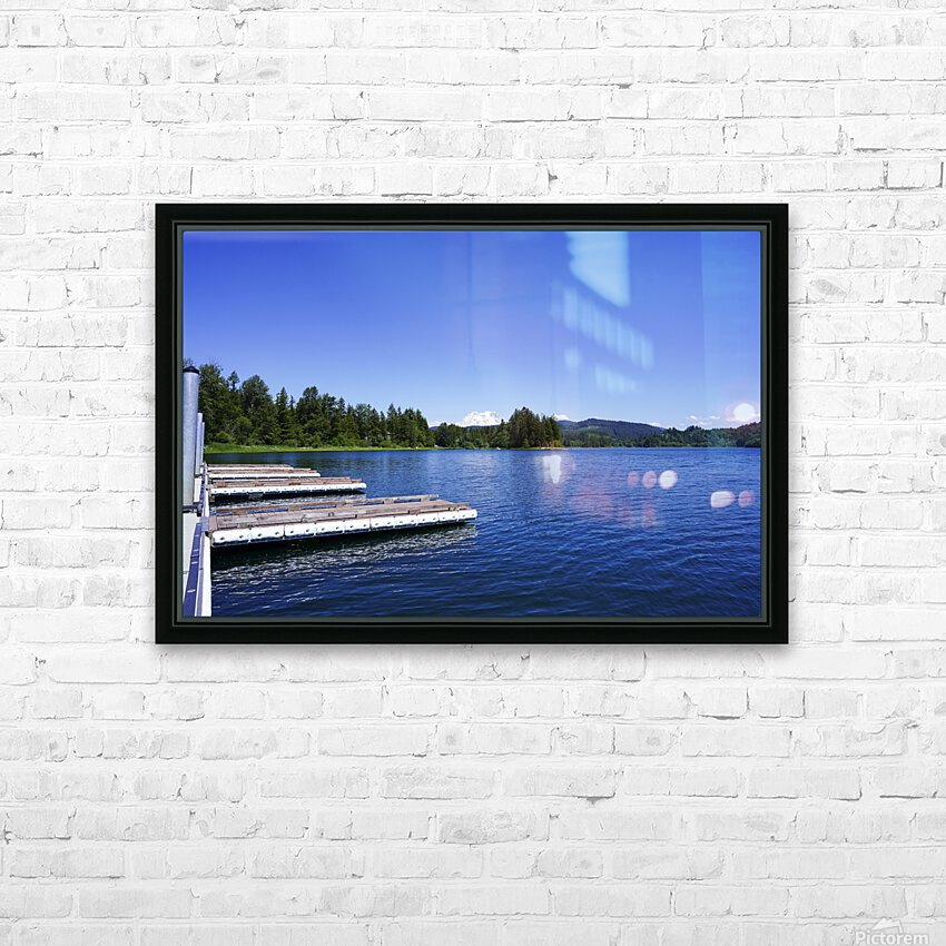 Alder Lake and Mount Rainier Pacific Northwest United States HD Sublimation Metal print with Decorating Float Frame (BOX)