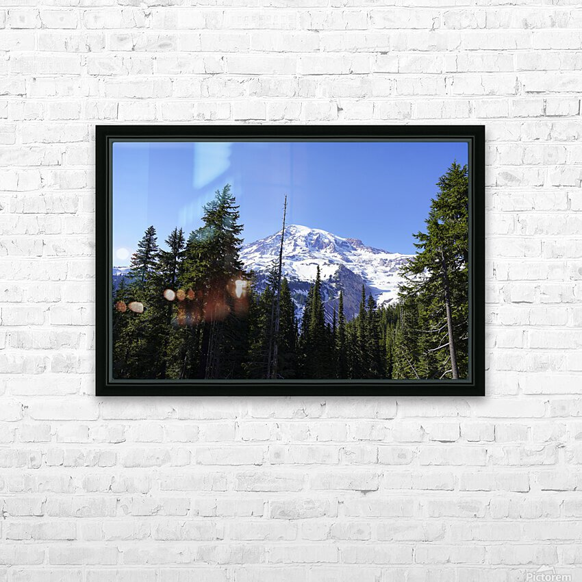 Mount Rainier Pacific Northwest Washington State HD Sublimation Metal print with Decorating Float Frame (BOX)