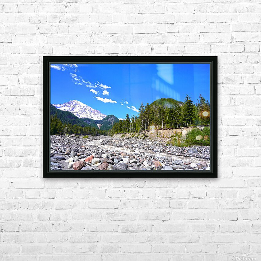 Spring Runoff Mount Rainier Pacific Northwest Washington State HD Sublimation Metal print with Decorating Float Frame (BOX)