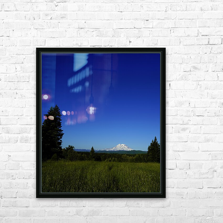 Mount Rainier at Sunset Pacific Northwest Washington State HD Sublimation Metal print with Decorating Float Frame (BOX)