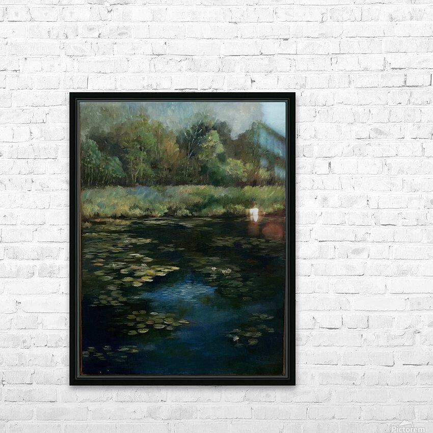 Calhoun pond HD Sublimation Metal print with Decorating Float Frame (BOX)