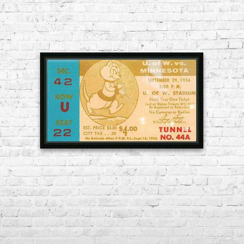 1956 Washington Huskies vs. Minnesota Golden Gophers HD Sublimation Metal print with Decorating Float Frame (BOX)