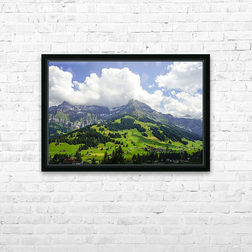 Beautiful Day in the Swiss Alps 2 of 2 HD Sublimation Metal print with Decorating Float Frame (BOX)