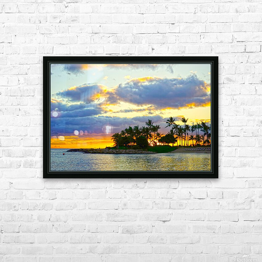 Sunset over Kaula Bay Hawaii HD Sublimation Metal print with Decorating Float Frame (BOX)