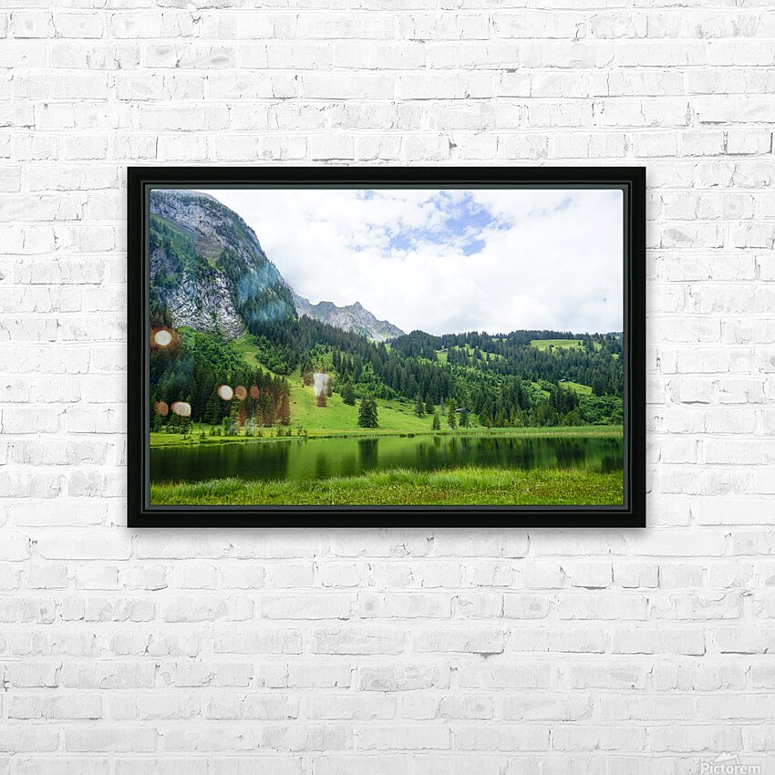 Quiet Morning on the Lake in the Swiss Highlands HD Sublimation Metal print with Decorating Float Frame (BOX)