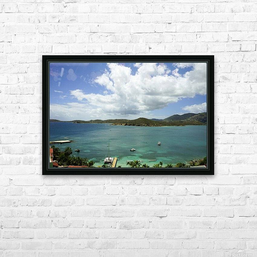 Saint Thomas in the Caribbean Islands HD Sublimation Metal print with Decorating Float Frame (BOX)