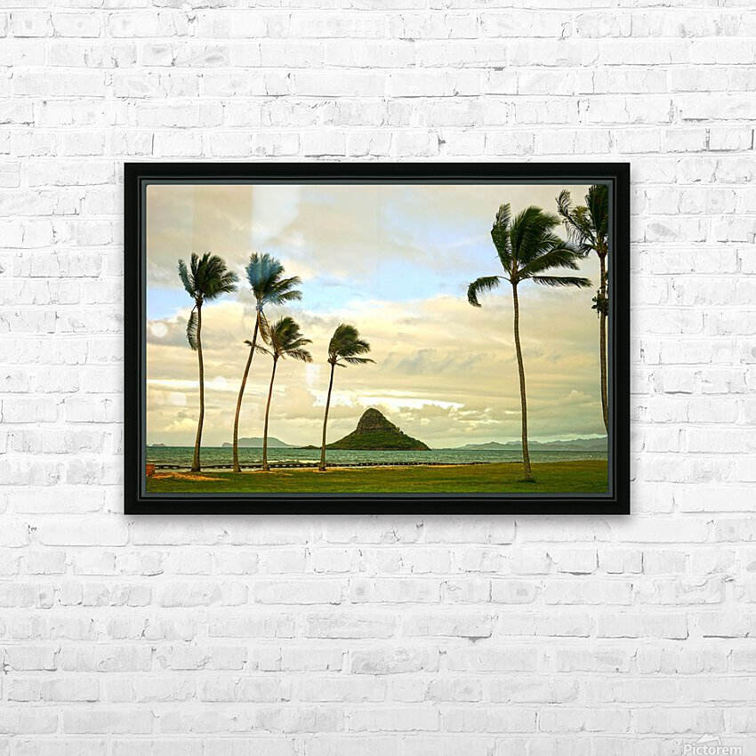 The Island of Mokoli  i from Oahu at Sunset HD Sublimation Metal print with Decorating Float Frame (BOX)