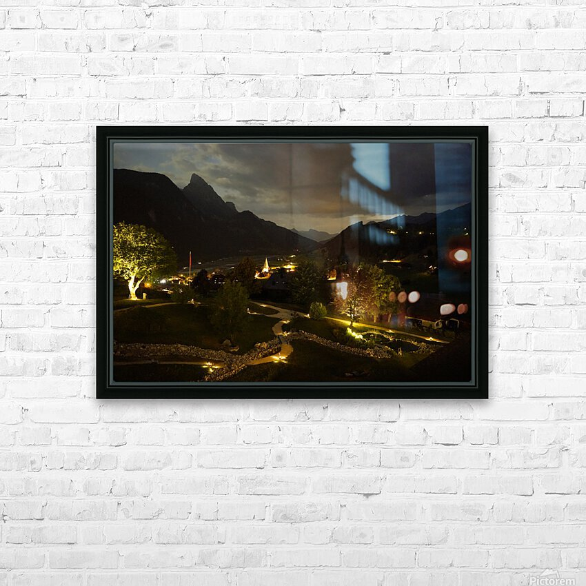 Night Arrives in the Saanen Valley in Switzerland HD Sublimation Metal print with Decorating Float Frame (BOX)