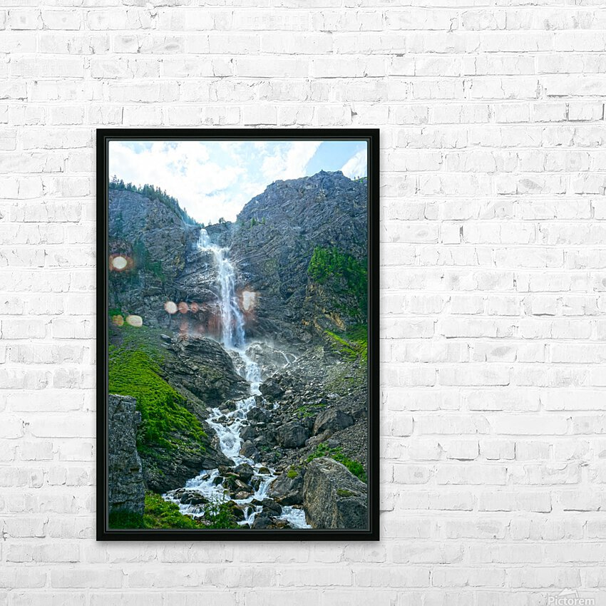 Engstligen Falls Adelboden Switzerland in the Bernese Highlands HD Sublimation Metal print with Decorating Float Frame (BOX)