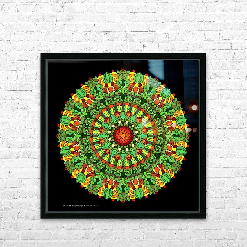 Mandala 2029 HD Sublimation Metal print with Decorating Float Frame (BOX)