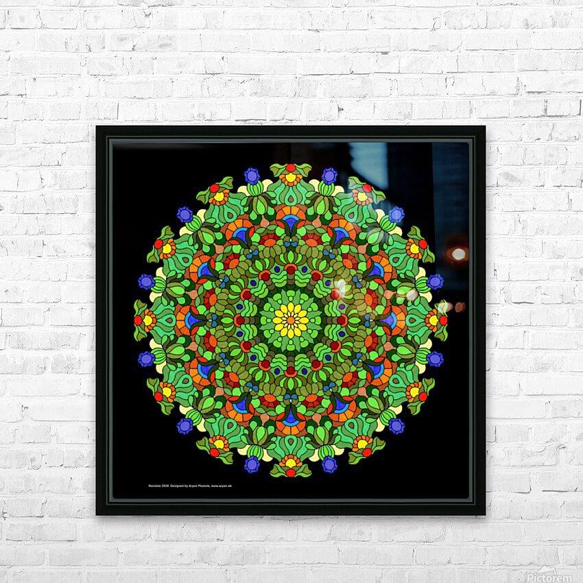 Mandala 2028 HD Sublimation Metal print with Decorating Float Frame (BOX)