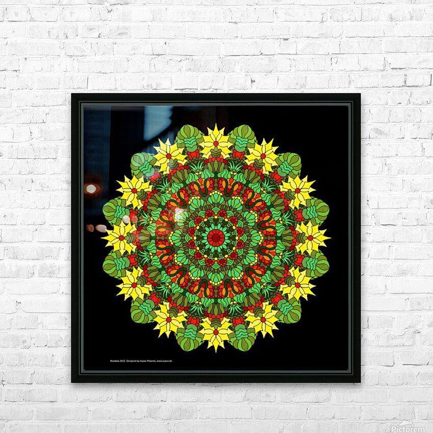 Mandala 2012 HD Sublimation Metal print with Decorating Float Frame (BOX)
